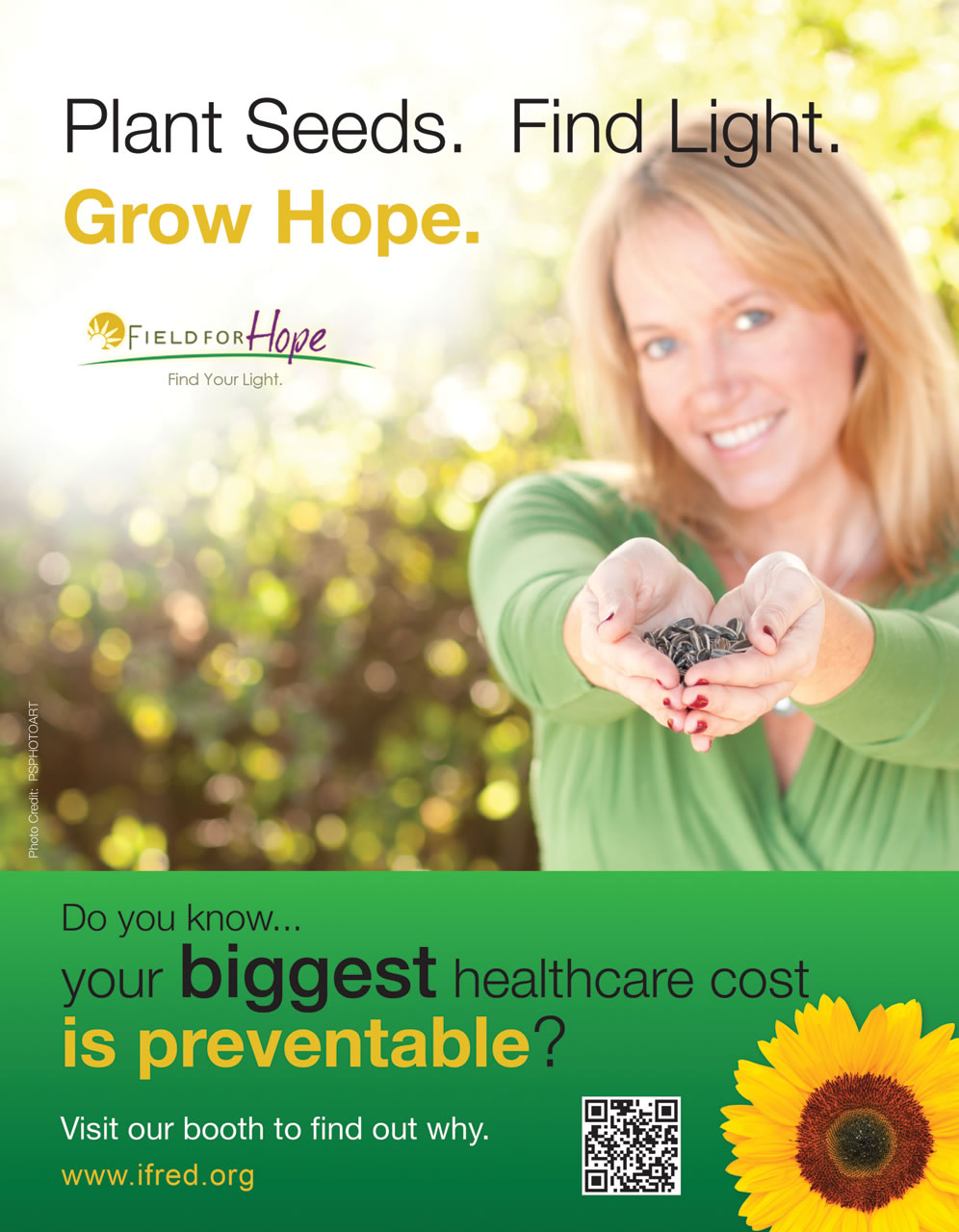 Advertisement for iFred, Field for Hope - Ginger Wagoner, Photographer, Photosynthesis