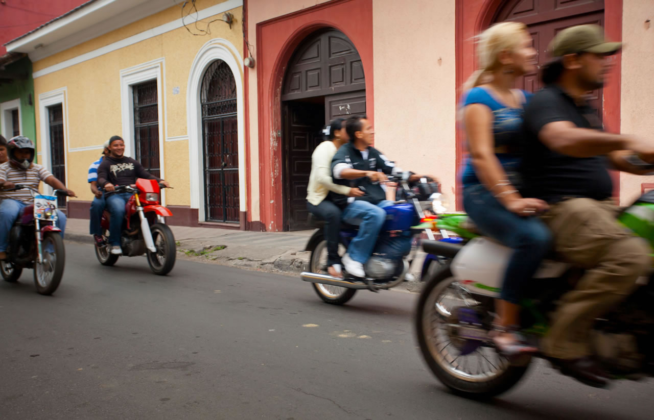 Motorcyclists and friends riding in Nicaragua - Ginger Wagoner, Photographer, Photosynthesis