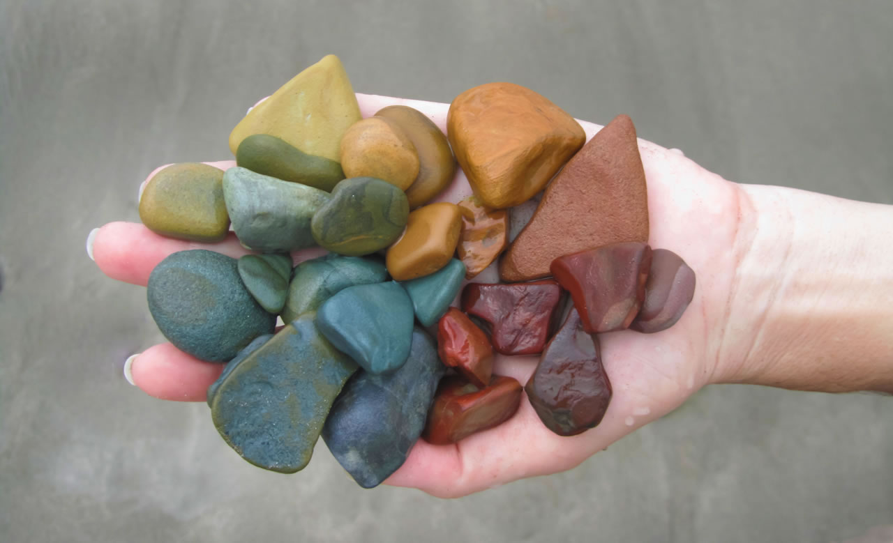 Artist's palette from stones on beach in Nicaragua - Ginger Wagoner, Photographer, Photosynthesis