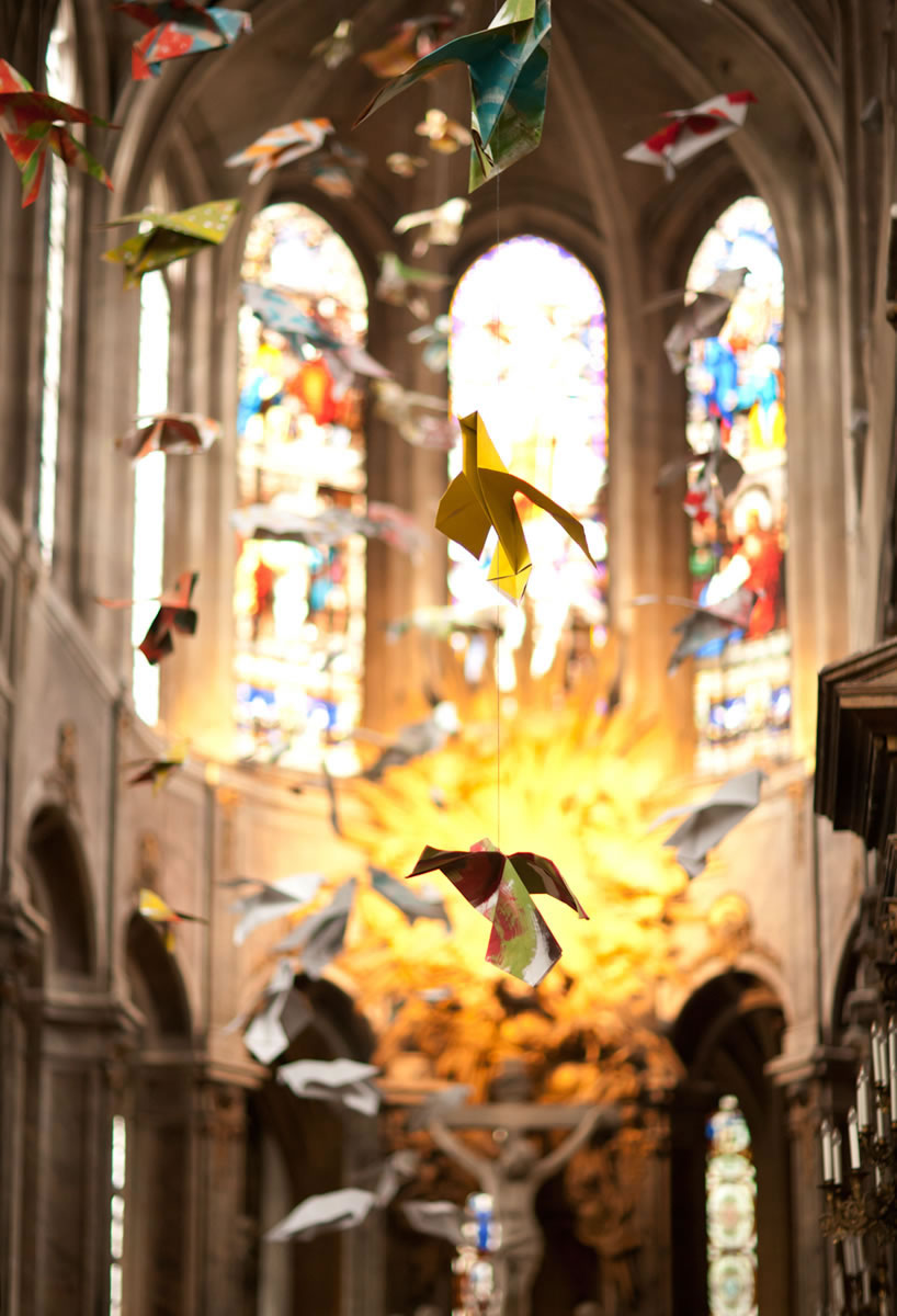 Paper swans in European cathedral - Ginger Wagoner, Photographer, Photosynthesis