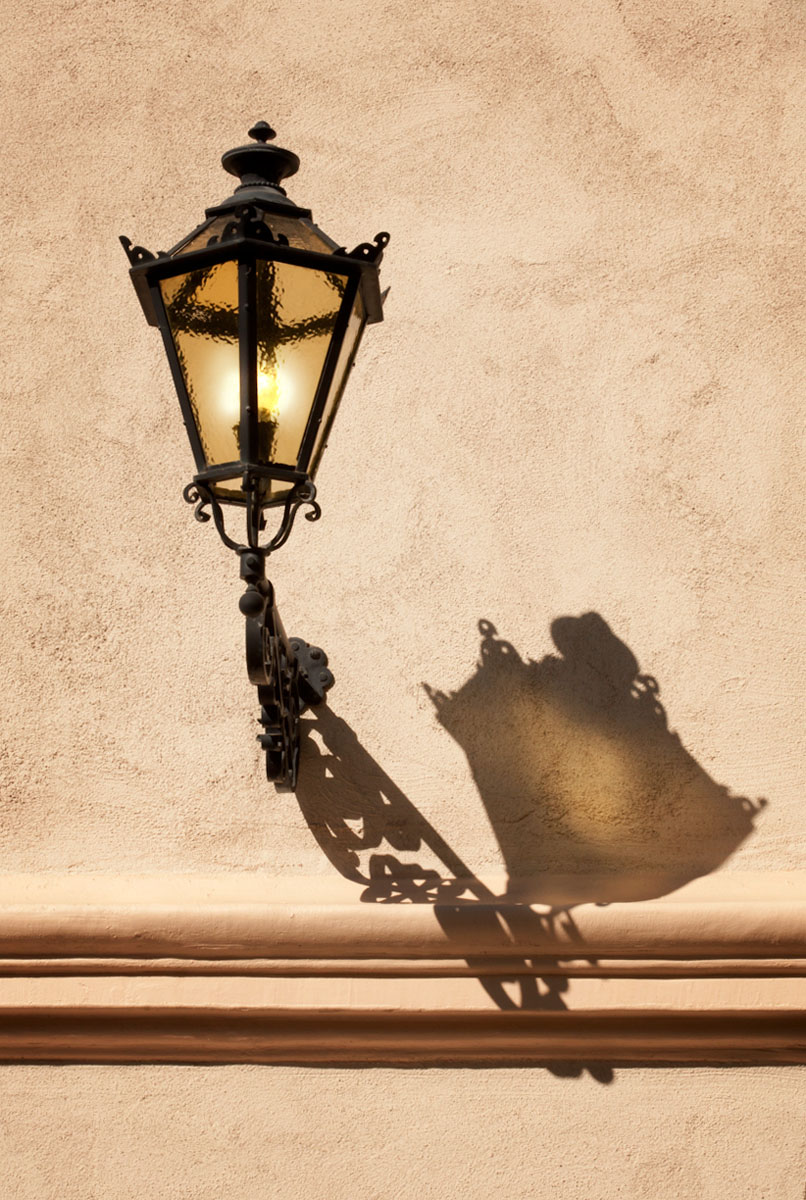 Gas Lamp with shadow - Ginger Wagoner, Photographer, Photosynthesis
